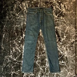 Mens Levi's Skinny Faded Dark Denim Jeans